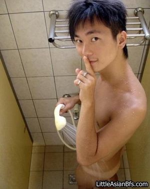 Asian guy is naked masturbating until he release cumloads